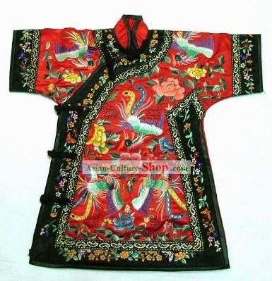 100 Percent Hand Made Embroidery Phoenix Chinese Palce Empress Robe