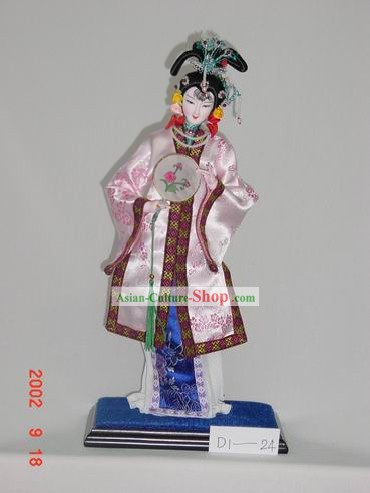 Handmade Peking Silk Figurine Doll - Empress with Fan