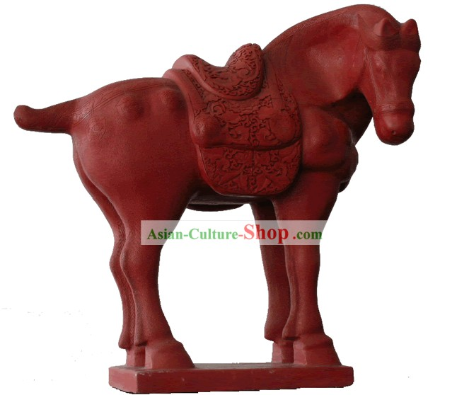 Chinese Hand Carved Palace Lacquer Craft-Tang Period Horse(out of stock)