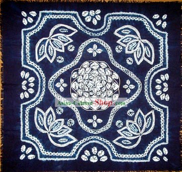 Hand Made Batik Tablecloth by Miao Tribe 1