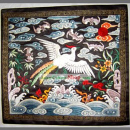 Qing Dynasty Fifth Grade Civilian Hand Embroidery Flake