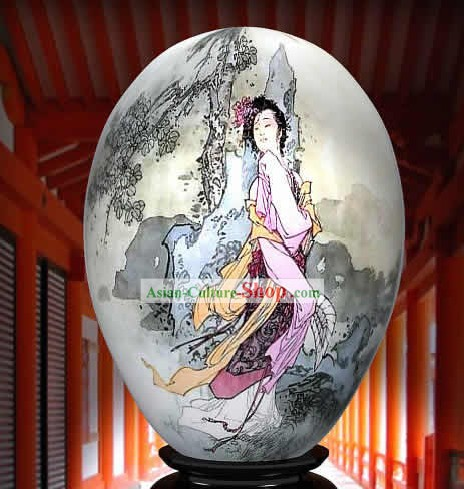 Chinese Wonders Hand Painted Colorful Egg-Dou Er In The Wind