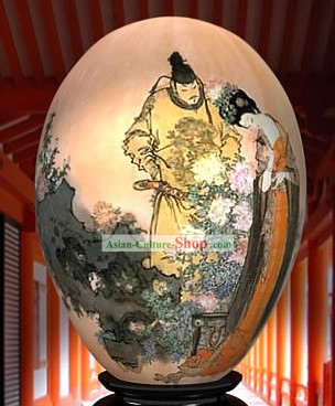 Chinese Wonder Hand Painted Colorful Egg-Emperor And Empress