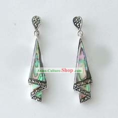 Qingdao Silver Abalone Shellfish Earrings