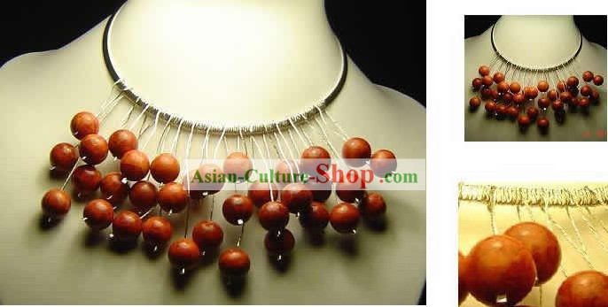 Hand Made Natural Red Coral Necklace