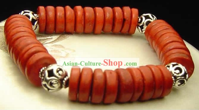 Chinese Coconut Silver Braceelt
