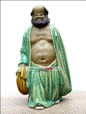 Hand Made Foshan Shi Wan Artistic Ceramics Statue-Ancient Hero
