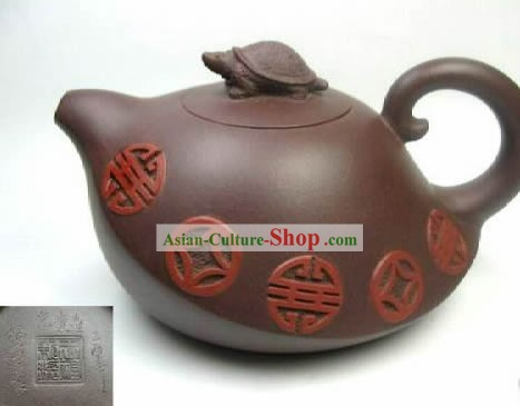 Chinese Classic Zisha Pottery Teapot-Ancient Coins