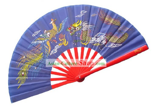 Chinese Dragon and Phoenix Professional Mu Lan Martial Arts Bamboo Fan