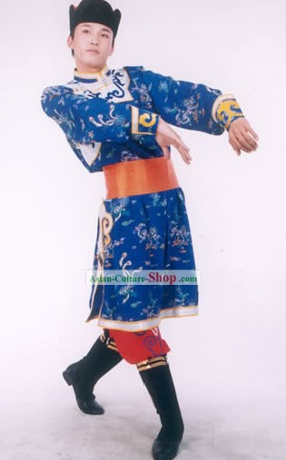 Mongolia Minority Dancing Costume Suit for Man