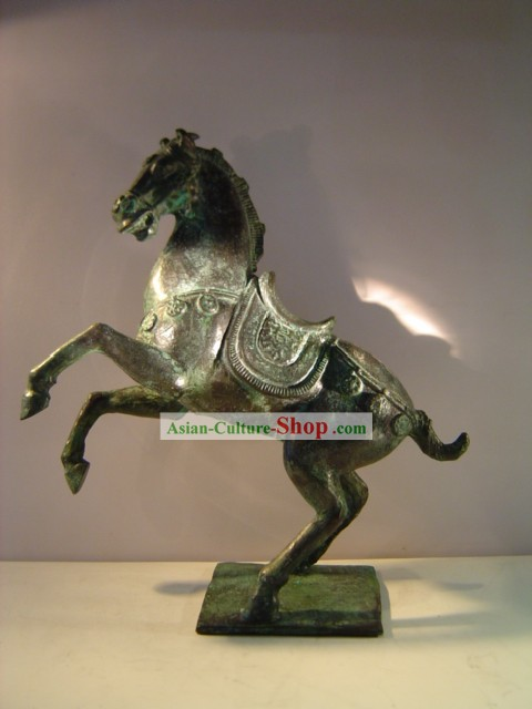 Chinese Classic Archaize Bronze Statue-Tang Dynasty Horse