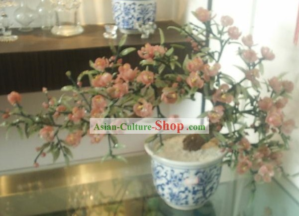 Chinese Classic Coloured Glaze Works-Welcome Spring Flower Tree