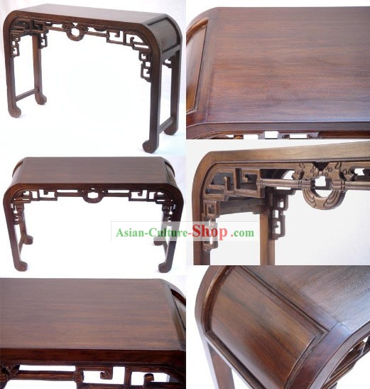 Chinese Ancient Classic Hand Carved Large Wood Console Table