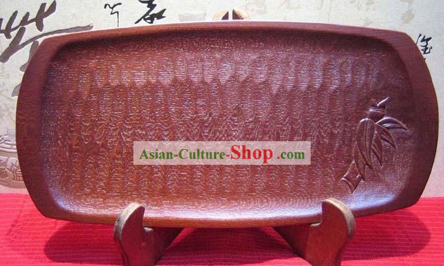 Chinese Hand Made Fish Shape Wooden Tea Table