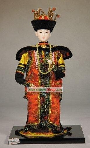 Handmade Peking Silk Figurine Doll - Chinese Empress of Qing Dynasty