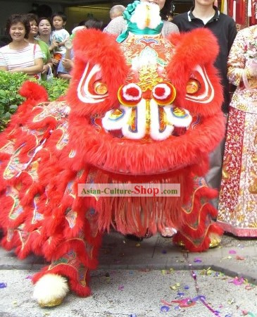 Chinese Classic Celebrating and Wedding Lion Dance Costumes Complete Set