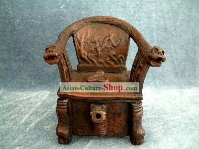 Chinese Ancient Zisha Dragon Chair Kettle(Pot)