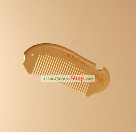 Carpenter Tan Handicraft Box Wooden Comb