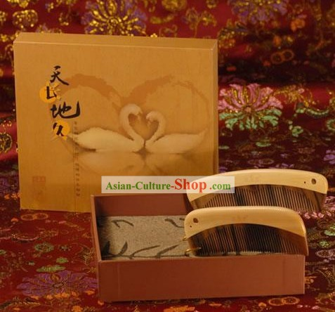 Chinese Carpenter Tan Hand Made Lovers Gift Set-Everlasting
