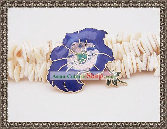 Chinese Cloisonne Brooch-Morning Glory