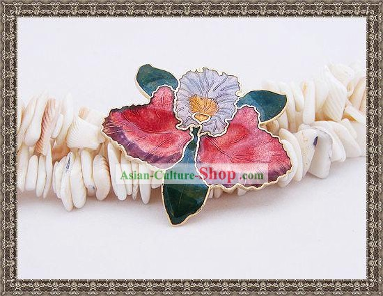Chinese Cloisonne Brooch-Blooming