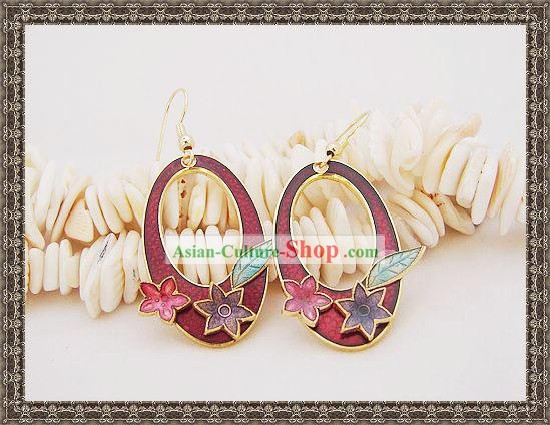 Chinese Ancient Mandarin Style Earrings-Red Lady
