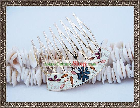 Chinese Classic Cloisonne Hairpin-White Princess