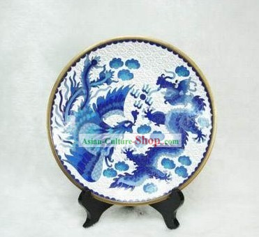 Chinese Palace Dragon and Phoenix Closionne Plate