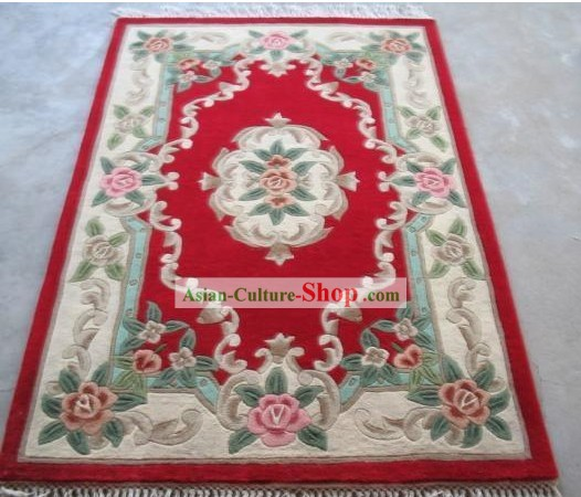 Art Decoration Chinese 100% Wool Hand Embroidered Rug (152*198CM)