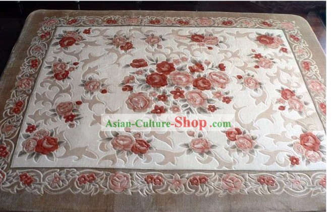 Art Decoration Chinese Classical Flowery Rug (185¡Á185cm)