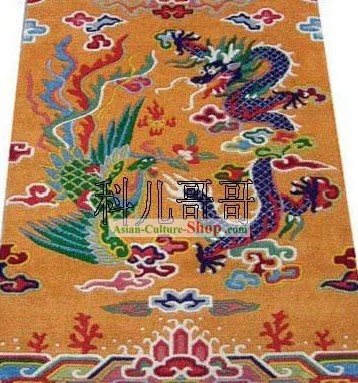 Art Decoration Chinese Hand Made Wool Dragon and Phoenix Rug 1 (180¡Á93cm)