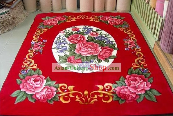 Art Decoration Chinese Lucky Red Wedding Carpet (173*230cm)