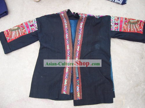 Chinese Stunning Miao Tribe Hand Embroidery Collectible-Dress for Woman