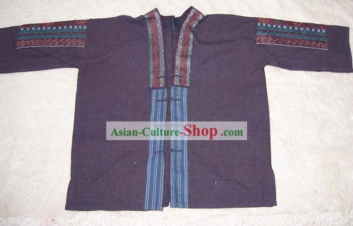 Chinese Stunning Miao Tribe Hand Embroidery Collectible-Dress for Man