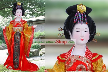 Handmade Peking Silk Figurine Doll - Tang Dynasty Fat Beauty Empress
