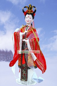 Handmade Peking Silk Figurine Doll - Fairy Playing Flute