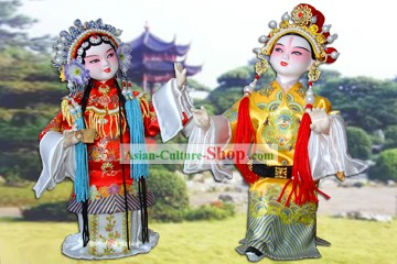 Handmade Peking Silk Figurine Doll - Eternal Love