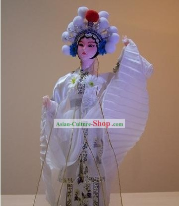 Handmade Peking Silk Figurine Doll - White Snake Legend