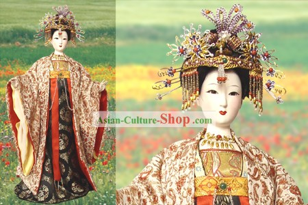Large Handmade Peking Silk Figurine Doll - Tang Dynasty Empress