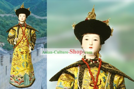Large Handmade Peking Silk Figurine Doll - Qing Dynasty Empress