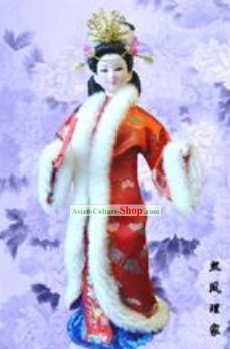 Handmade Peking Silk Figurine Doll - Wang Xifeng in Dream of the Red Chamber