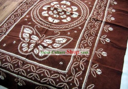 Chinese Classical Large Batik Tablecloth-Butterfly love Flower 6