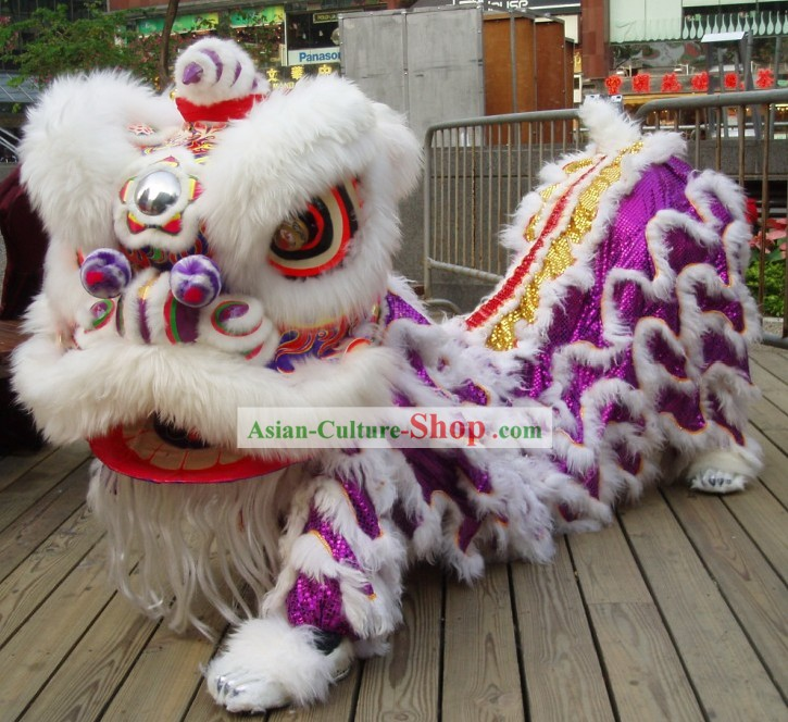 Top Festival Celebration Competition and Parade Chinese Wool Lion Dance Costume Complete Set