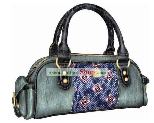 Hand Made and Embroidered Chinese Miao Minority Handbag for Women - Clove