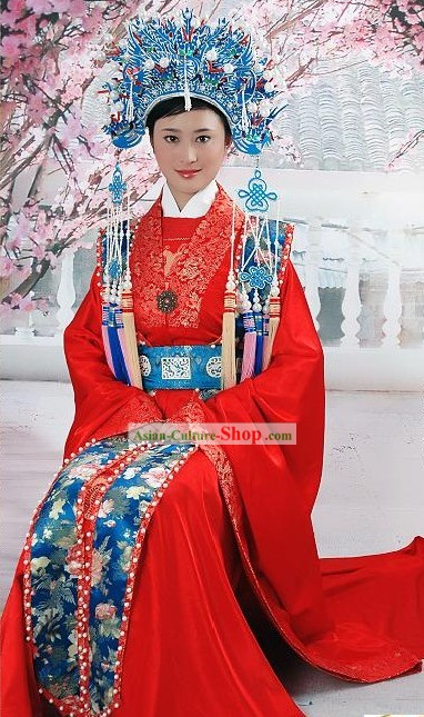 Supreme Chinese Traditional Red Wedding Dresses