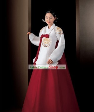 Korean Traditional Handmade Hanbok for Women (white)