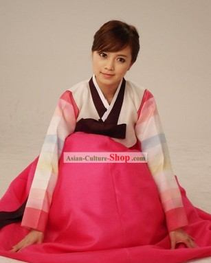 Korean Classic 100% Handmade Korean Hanbok Tang Dress-Palace Beauty