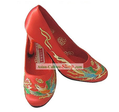 Chinese Classic Phoenix Bridal Shoes