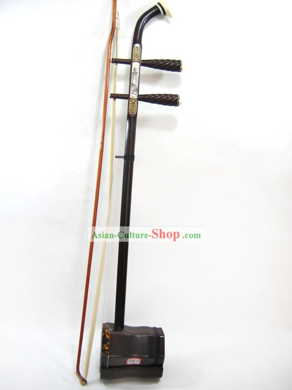 Traditional Snakeskin and Red Sandal Wood Two-stringed Chinese Fiddle Complete Set