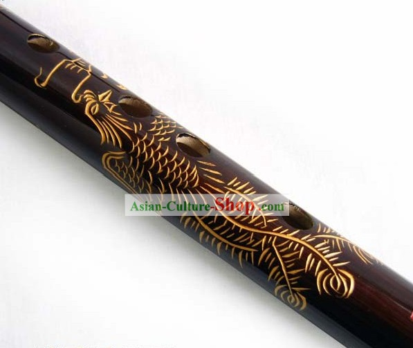 Chinese Traditional Dragon and Phoenix Bamboo Flute